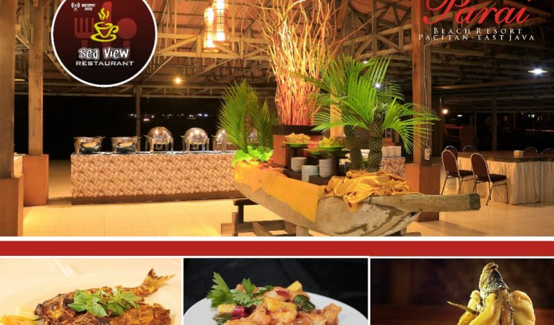 Seaview Restaurant Parai Beach Resort-Telengria Pacitan, Raih Penghargaan The Best Seafood Restaurant 2019.